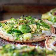 Brussels Sprouts Pita Pizzas from Kitchen Treaty