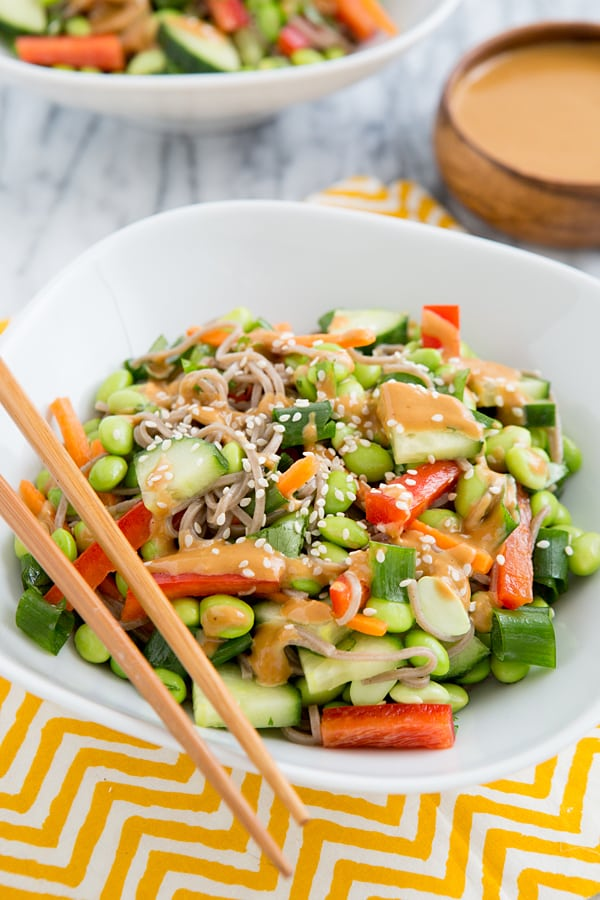 Thai Peanut Empowered Noodle Bowl from The Oh She Glows Cookbook