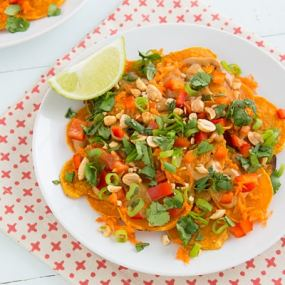Thai Sweet Potato Nachos Recipe