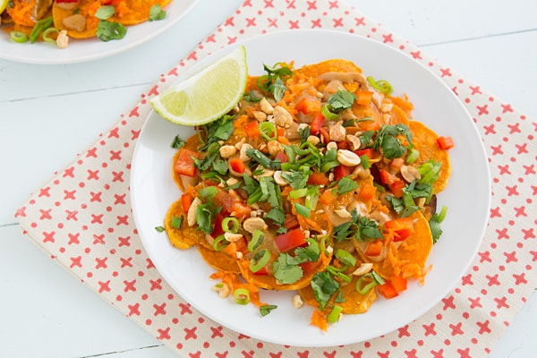 Thai Sweet Potato Nachos Recipe
