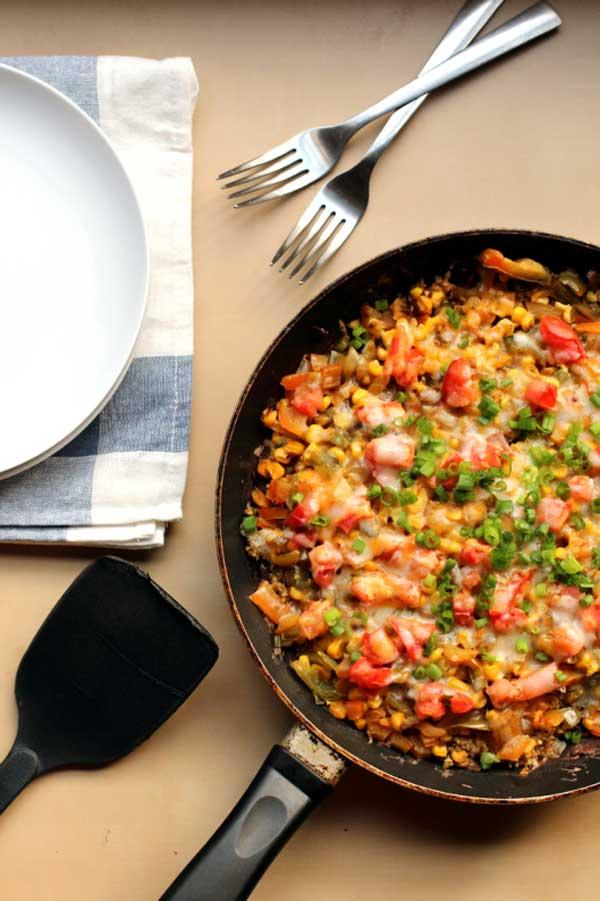 Mexican Black Bean Quinoa Skillet