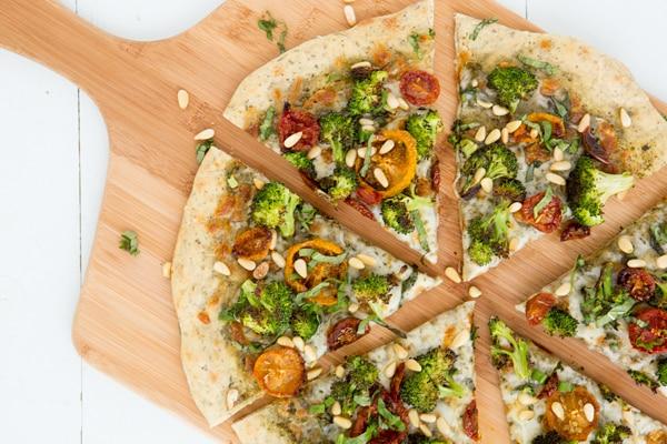 Roasted Broccoli & Sun-Dried Tomato Pizza Recipe