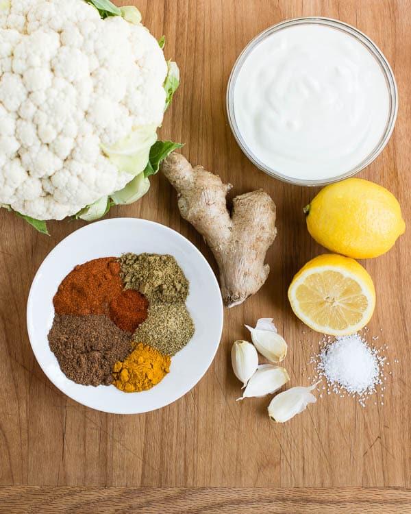 Tandoori Cauliflower Ingredients