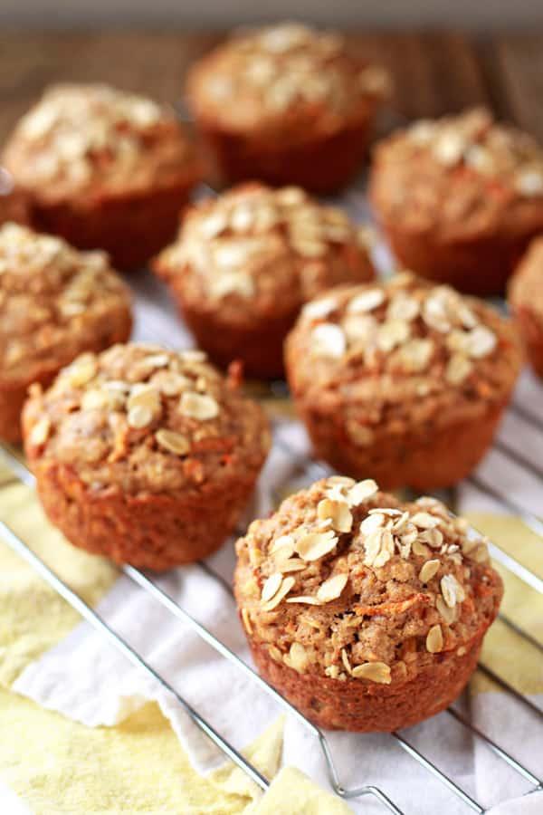Vegan muffin recipe carrot