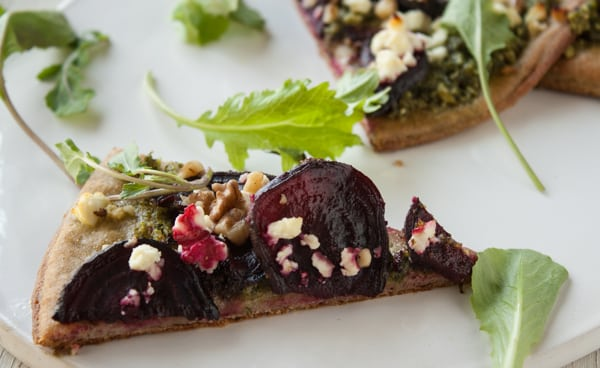 Beet Green Pesto Pizza3