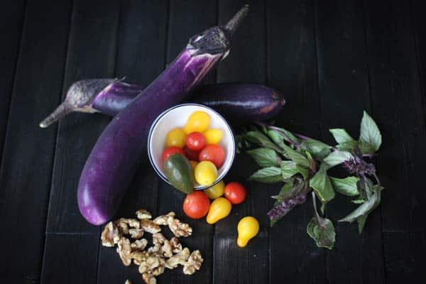 Stuffed Miso Eggplant Recipe from Oh My Veggies!