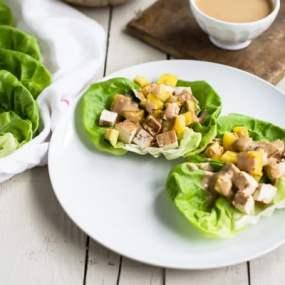 Grilled Teriyaki Tofu Wraps with Creamy Sesame Dressing Recipe
