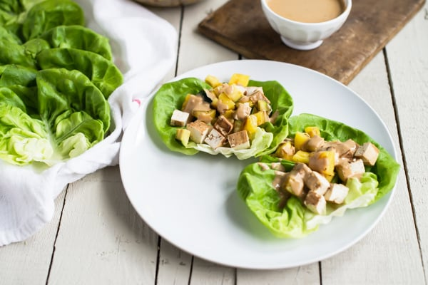 Grilled Teriyaki Tofu Wraps with Creamy Sesame Dressing Recipe