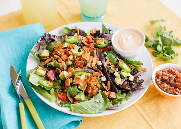 Vegan Southwest BLT Salad