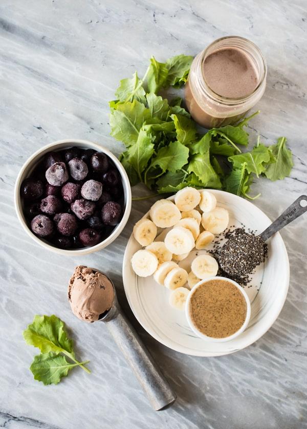 Chocolate-Cherry Vegan Protein Shake Recipe