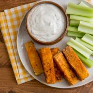 Buffalo Tofu Wings with Creamy Ranch Dip
