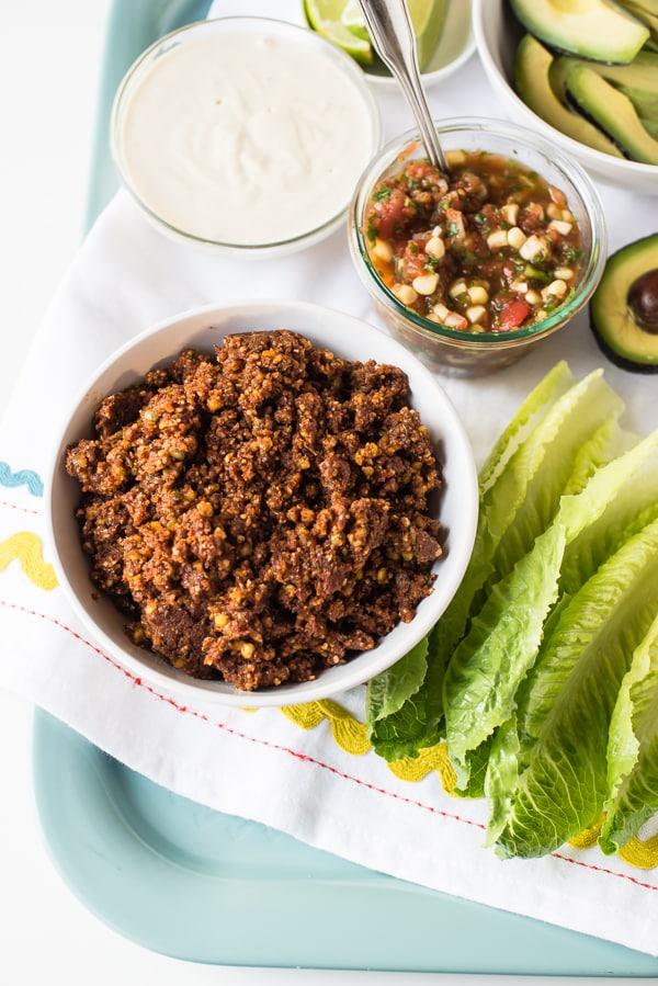 Lentil and Walnut Taco Filling