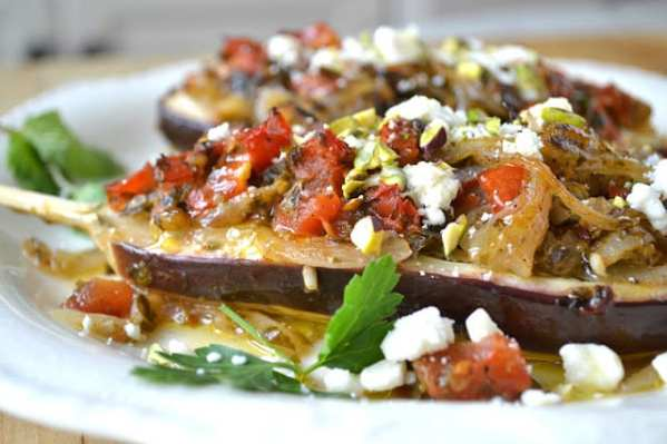 Turkish Stuffed Eggplant