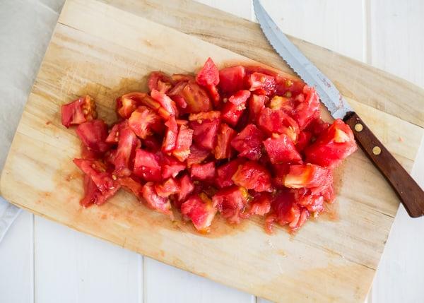 Freezer Tomato Sauce - diced tomatoes