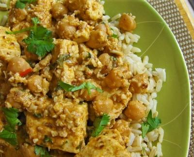 Balti Tofu and Chickpeas