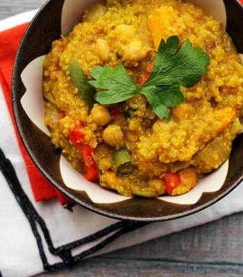 One-Pot Curried Quinoa with Butternut Squash