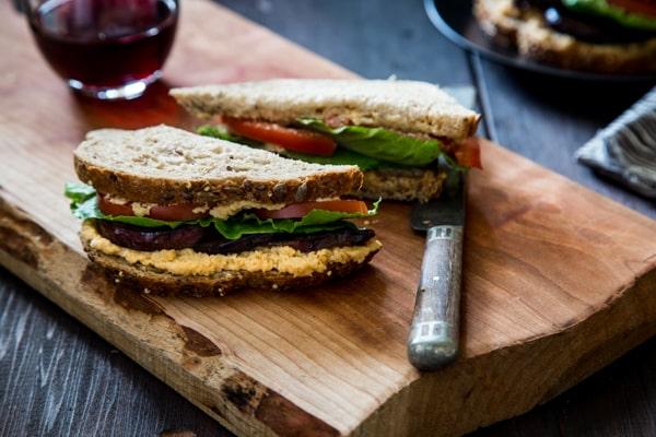 Vegan BLT with Eggplant Bacon