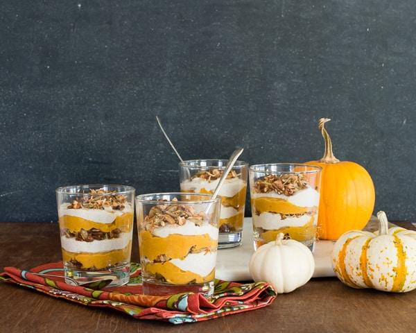 Vegan Maple Pumpkin Parfaits