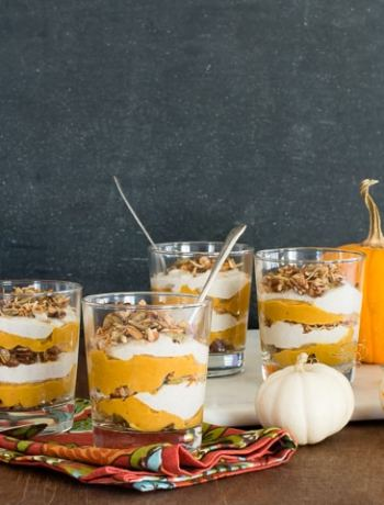 Vegan Maple Pumpkin Parfaits | OhMyVeggies.com