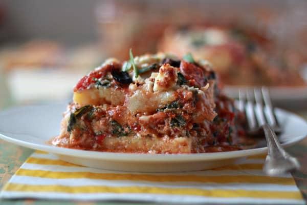 Greek Polenta Lasagna