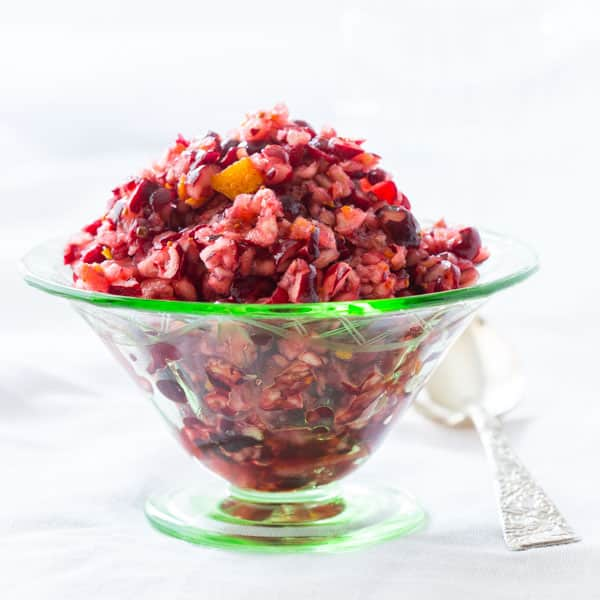 10-Minute Cranberry Orange Relish