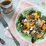 Roasted Onion, Squash and Fig Salad