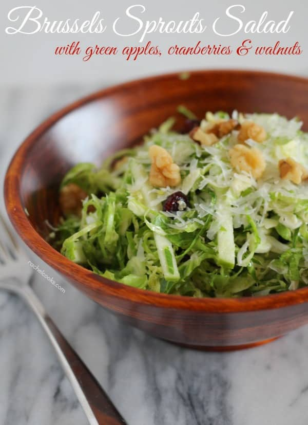 Brussels Sprout Salad with Apples and Cranberries