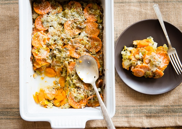 Healthy Sweet Potato Gratin