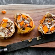 Lentil and Roasted Root Vegetable Strudel Recipe
