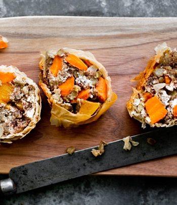 Lentil and Roasted Root Vegetable Strudel Recipe