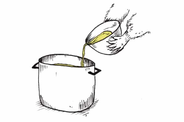 Pouring Miso Back into Pot