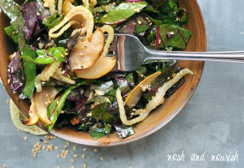 Roasted Pear and Fennel Salad