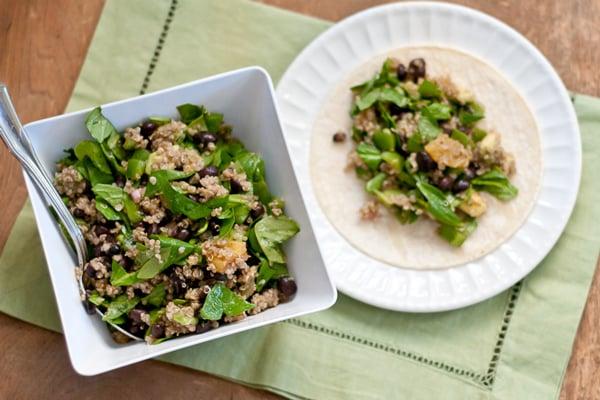Quinoa Salad Soft Tacos