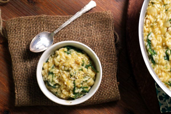 Baby Kale and Creme Fraiche Risotto