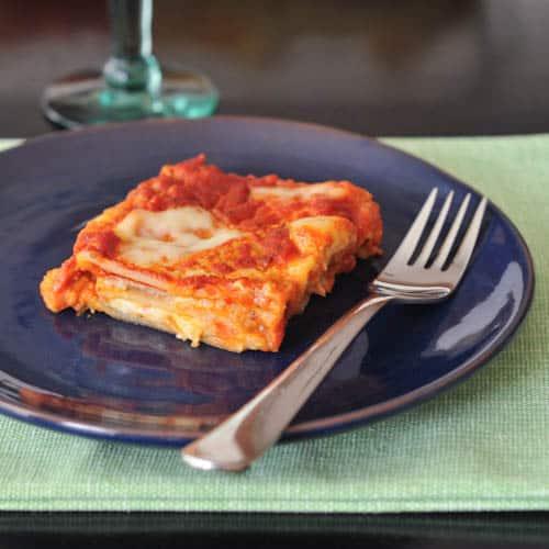 Kalamata Garlic Bechamel Lasagna