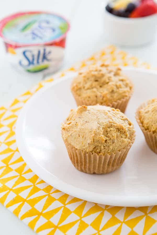 Vegan Meyer Lemon Vanilla Muffins