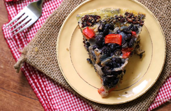 Southwestern Style Quiche with Quinoa Crust