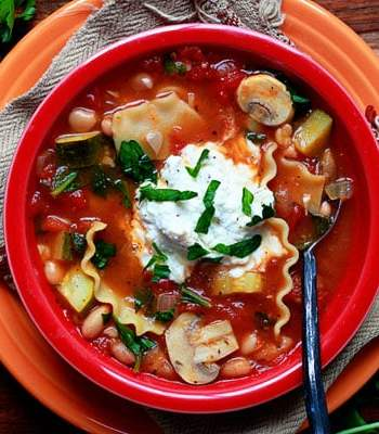 Vegetable Lasagna Soup