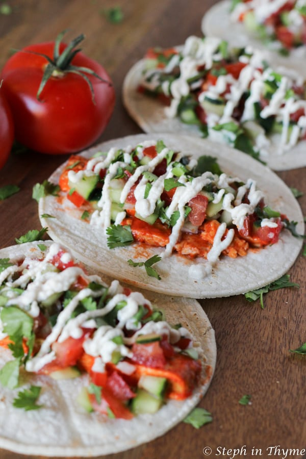 Buffalo Tempeh Tacos