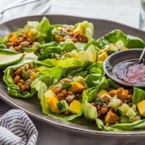 Mango Tempeh Lettuce Wraps Recipe