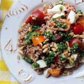 Farro Caprese Salad