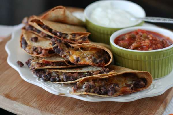 Oven-Baked Black Bean Quesadillas