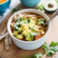 Make & Freeze Slow Cooker Veggie Tortilla Soup Recipe