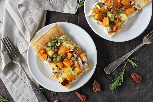 Butternut Squash and Ricotta Tart