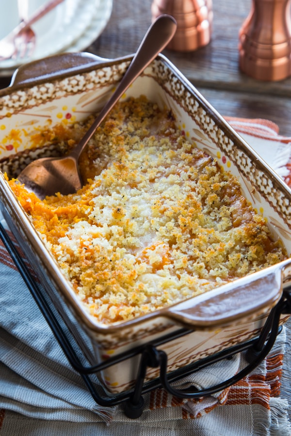 Butternut Squash Casserole with Parmesan-Panko Topping