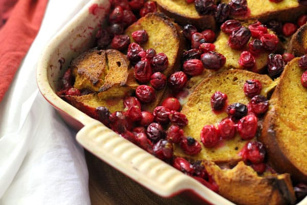 Cranberry Pumpkin Pie Overnight French Toast