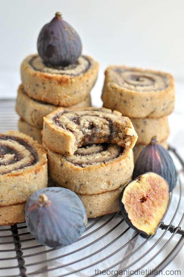 Cashew Flour Fig Pinwheel Cookies