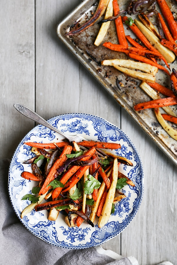 Spiced Roasted Root Vegetables