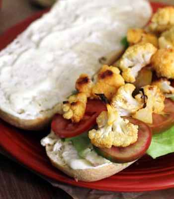 Buffalo Cauliflower Sandwich