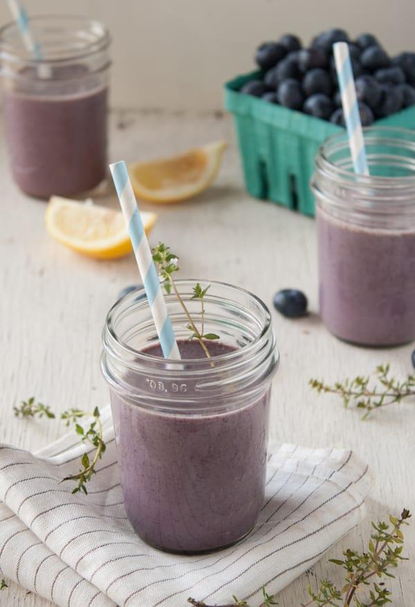 Lemon Thyme Blueberry Smoothie